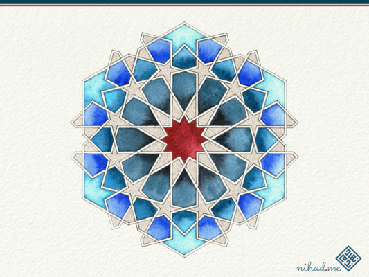 watercolor geometric islamic Art 02